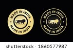 made in india icon vector...