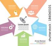 arrow banner infographic.  flat ...   Shutterstock .eps vector #186060101