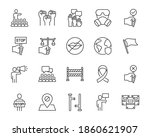 set of protest thin line icons  ...   Shutterstock .eps vector #1860621907