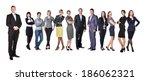 successful businessman standing ... | Shutterstock . vector #186062321