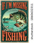 vintage colorful fishing poster ... | Shutterstock .eps vector #1860632311
