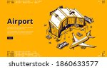 airport terminal and airplane... | Shutterstock .eps vector #1860633577
