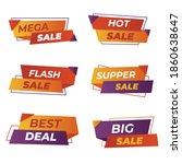modern origami sale promotion... | Shutterstock .eps vector #1860638647