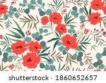 seamless floral pattern....   Shutterstock .eps vector #1860652657