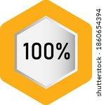 100  hexagon percentage diagram ...