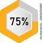75  hexagon percentage diagram  ...