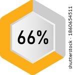 66  hexagon percentage diagram  ... | Shutterstock .eps vector #1860654511