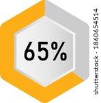 65  hexagon percentage diagram  ...