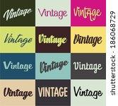 vintage heading selection set | Shutterstock .eps vector #186068729