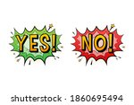 yes and no speech bubble in pop ... | Shutterstock .eps vector #1860695494