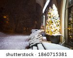 Night City Street In Snowfall...