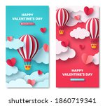 set of vertical banners with... | Shutterstock .eps vector #1860719341