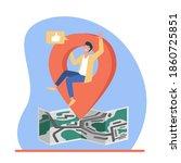 map location pointer. man...   Shutterstock .eps vector #1860725851