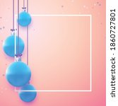 square frame with blue... | Shutterstock .eps vector #1860727801