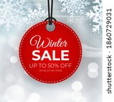 winter sale red tag vector... | Shutterstock .eps vector #1860729031
