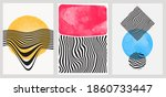 minimal geometric background... | Shutterstock .eps vector #1860733447
