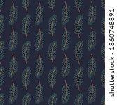 winter simple pine fir brunch... | Shutterstock .eps vector #1860748891