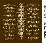decorative elements for design...   Shutterstock . vector #186076304