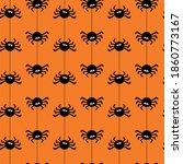 halloween seamless pattern with ... | Shutterstock .eps vector #1860773167
