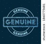 genuine. glowing round badge.... | Shutterstock .eps vector #1860775681