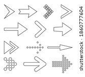 icon set of flat arrows....