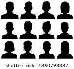 silhouette heads. male and... | Shutterstock . vector #1860793387
