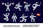 Cartoon Astronaut. Cosmonaut...