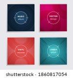 geometric vinyl records music...   Shutterstock .eps vector #1860817054