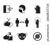 set of hygiene icons. icons... | Shutterstock . vector #1860825724
