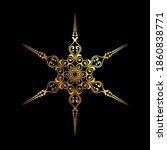 gold snowflake with vintage... | Shutterstock .eps vector #1860838771