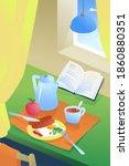 illustration of breakfast in...   Shutterstock . vector #1860880351