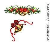 christmas holly brunches... | Shutterstock .eps vector #1860901441