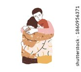 family reunion concept. parents ... | Shutterstock .eps vector #1860956371