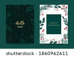 happy holidays greeting card... | Shutterstock .eps vector #1860962611
