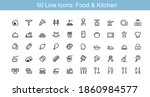 food and kitchen line icon set | Shutterstock .eps vector #1860984577