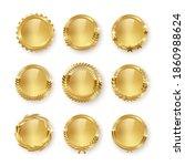 award golden blank medals 3d...   Shutterstock .eps vector #1860988624
