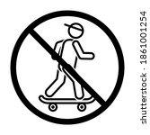 no skateboarder icon in modern... | Shutterstock .eps vector #1861001254