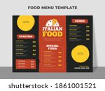 italian food menu template with ... | Shutterstock .eps vector #1861001521