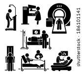 hospital medical checkup... | Shutterstock .eps vector #186101141