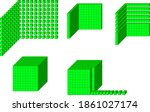 base ten blocks  thousands... | Shutterstock .eps vector #1861027174