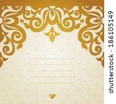 vector seamless border in... | Shutterstock .eps vector #186105149