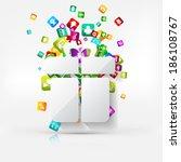 application button.social media.... | Shutterstock . vector #186108767