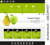website template with...