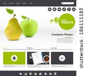 website template with realistic ...