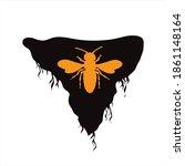 vector silhouette of piece of... | Shutterstock .eps vector #1861148164