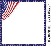 american flag background with... | Shutterstock .eps vector #1861152877