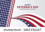 usa happy veterans day ... | Shutterstock .eps vector #1861156267