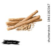 Liquorice Root Isolated Dried...