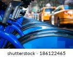 bikes rent new york | Shutterstock . vector #186122465
