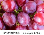 Tasteful Red Grapes From Above